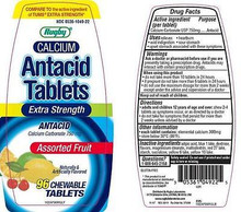 RUGBY CALCIUM EX STR ANTACID TAB CALCIUM CARBONATE-750 MG Assorted 96 TABLETS