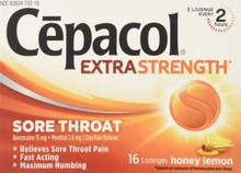 Cepacol Sore Throat Max Numbing Honey Lemon, 16 Count