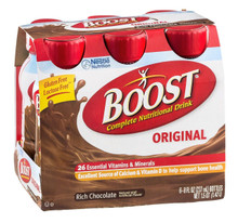 Boost Rich Chocolate Complete Nutritional Drink 4X6X8OZ