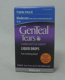 Genteal Tears Moderate Eye Drops TWIN PACK 2X15M