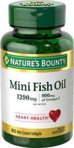 Nature's Bounty Mini Fish Oil 1290 mg 90 Odorless Softgels