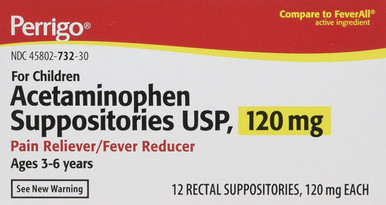 Acetamin 120mg Suppository 12ct Per