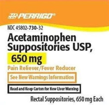 Acetamin 650mg Suppository 12ct Per