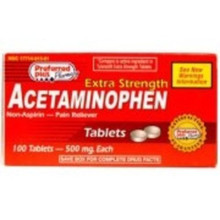Acetaminophen 500mg Usp Tablet 100ct