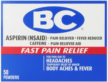 BC Aspirin Fast Pain Relief Powder, 50 Count