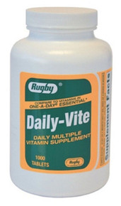 DAILY VITE TAB ASCORBIC ACID-60 MG Red 1000 TABLETS