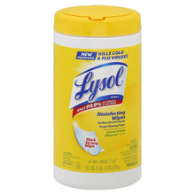 Lysol Sanitizing Wipes, Citrus Scent, 80 Wipes