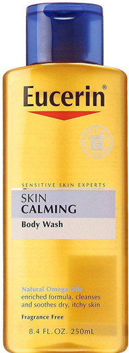 Eucerin Skin Calming Dry Skin Body Wash Oil Fragrance Free, 8.4 Oz