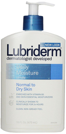 Lubriderm Daily Moisture Lotion Normal to Dry Skin, 16 Oz