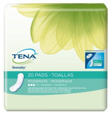 TENA Incontinence Pads for Women, Moderate, Regular, 6 x 20 packs