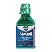 Vicks NyQuil Cold & Flu Nighttime Relief Original Flavor Liquid 8 Fl Oz