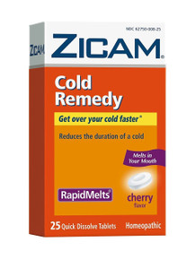 Zicam Cold Remedy RapidMelts, Cherry, 25 Quick Dissolve Tablets