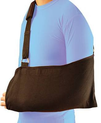 Bell-Horn Arm Sling support with padded shoulder strap (black)