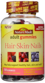 Nature Made Biotin & Vitamin C, Skin and Nails Adult Gummies 90 count