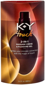 K-Y Touch 2-in-1 Massage Creme & Pleasure Gel, 3 oz