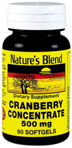 Nature's Blend Cranberry Concentrate 500 mg 60 Softgels