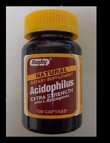 Rugby Acidophilus Extra Strength w/ L-Sporogenes 100 captabs
