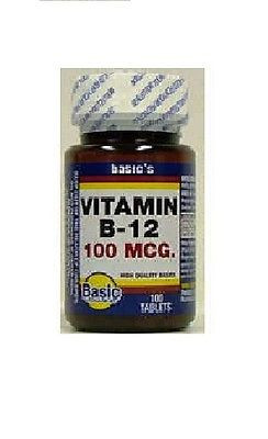 Basic Vitamins B12 1000 MCG TAB 60 Counts