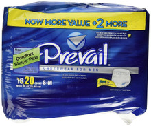 Prevail Men's Maximum Absorbency Underwear, Small/Medium. 4X20 count