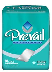 "Prevail Premium Fluff Disposable Underpad, 23""x36"" Large 4X18 Counts"