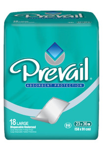 "Prevail Fluff Large Underpad, 23""X36"" Prevail Underpad 10X15 Counts"
