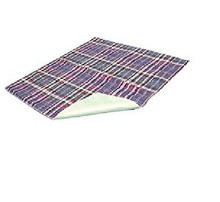 "Essential Medical Supply Quik Sorb 24"" x 36"" Plaid Quilted Reusable Underpad"