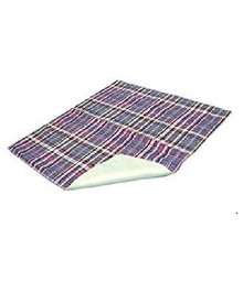 "Essential Medical Supply Quik Sorb 34"" x 36"" Plaid Quilted Reusable Underpad"