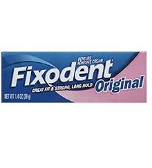 Fixodent Denture Adhesives Cream, Original - 1.4 Oz