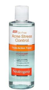 Neutrogena Oil-Free Acne Stress Control Triple-Action Toner, 8 Fluid Ounce