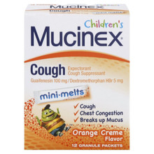 Mucinex Children's Cough Mini-Melts, Orange Cream, 12-Count