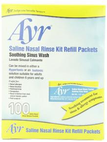 Ayr Saline Nasal Rinse Kit Refill Packets, 100-Count Packets