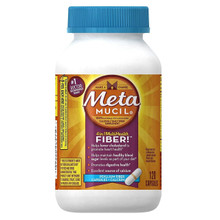 Metamucil Multi Health Fiber Capsules Plus Calcium by Meta, 120 Count