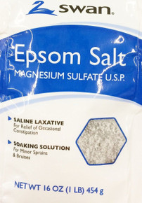 Swan Epson Salt, Saline Laxative, Soaking Solution 16OZ x 12 packets
