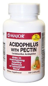 Major Acidophilus with Pectin Capsules, 100 ct