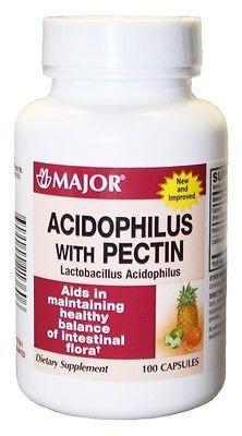 Major Acidophilus with Pectin Capsules, 100 ct