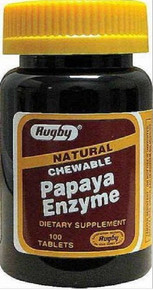 Rugby Papaya Enzyme 100 Chewable Tablets