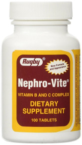 Nephro - Vite Vitamin B and C Complex Dietary Supplements Tablets 100 ct