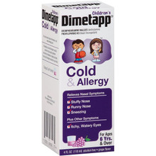 Dimetapp Children's Cold & Allergy Antihistamine & Decongestant Grape Flavor 4oz
