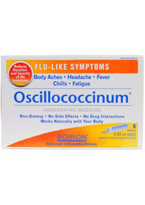 Boiron Homeopathic Medicine Oscillococcinum for Flu, 6 Count Boxes of 0.04 Ounce