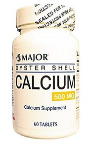 Major Oyster Shell 500mg Calcium Supplement 60 tablets/bottle