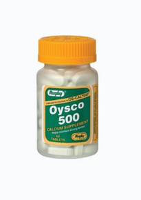 Rugby Oysco 500 TAB, OYSTER SHELL 500 MG, green 60 ct
