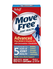 Move Free Advanced Plus MSM and Vitamin D3, extra bone support - 80 Count