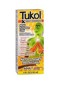 Tukol X-pecto Miel Multi Symptom Cold, Natural Honey/ Miel Natural - 4 oz