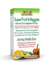 Country Farms Super Fruits and Veggies Capsules, 60 Count
