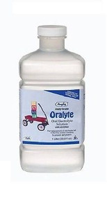 Rugby Oralyte Oral Electrolyte Unflavoured Solution, Prevents Dehydration, 33 oz