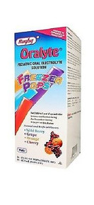 Rugby Oralyte Freeze pops Prevents Dehydration, 16X63 ML