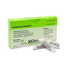 X-Gen Ammonia Inhalant 0.33mL/ampule x 10 ct used for arousing consciousness