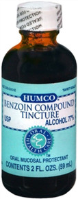 Humco Benzoin Compound Tincture, Oral Mucosal Protractant, 2 oz