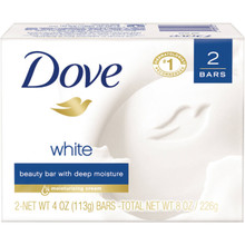 Dove White Beauty Bar, Deep moisturizing 2 X 4.25 OZ