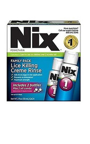 NIX Permethrin Lice Treatment Family Pack 2X59ML ounce bottles